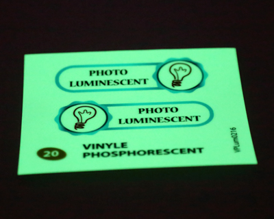 echantillon sticker luminescent