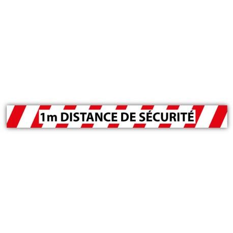 Stickers anti-dérapants signalisation COVID-19 - 100 x 10 cm